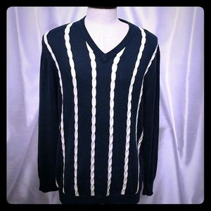 Brooks Brothers V-neck Mens knit Cotton sweeter L